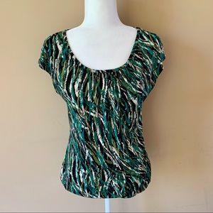 Worthington Tops - Worthington Stretch Small Womens green black shirt